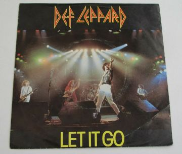 "DEF LEPPARD Let It Go / Switch 625 1981 UK 7"" NWOBHM White Labels MINT  AUDIO"